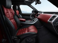 """By the end of March year the UK carmaker Land Rover declassified release of a new """"heated"""" modification SUV Range Rover Sport with an index of the HST, the official debut of which took place at the Auto Show in New York in April of this year. Range Rover Sport 2017, Range Rover 2018, Range Rover Evoque, Pink Range Rovers, Range Rover White, Range Rover Classic, Suv Cars, Sport Cars, Range Rover Schwarz"""
