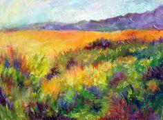 Teton Fields - Impressionist Palette by Jennifer VonStein