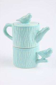 Chickadee tea for one