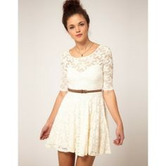 River Island Lace Skater Dress found on Polyvore by christa