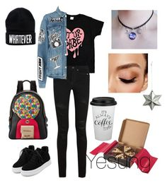 """""""f"""" by taeyan-park on Polyvore featuring Yves Saint Laurent, Frame, WithChic, Betsey Johnson and Avon"""