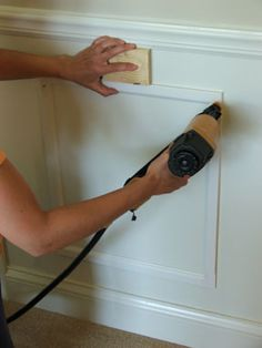 Getting your wainscoting up on the walls | House Projects Online