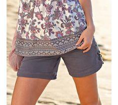Šortky so šnurovaním   modino.sk #modino_sk #modino_style #style #fashion #blancheporte Bermuda Shorts, Casual Shorts, Women, Fashion, Moda, Fashion Styles, Fashion Illustrations, Shorts, Woman