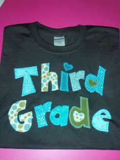 @ Kathy ,this one is my favorite...Teachers and Student Grade Level Appliqued T by sewingsassyinTX, $25.00