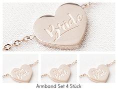 """**Zu diesem Lieblingsstück** Ein Set besteht aus 1 """"Bride""""-Armband und 3 """"Team Bride""""-Armbändern. Das Set ist eine nachhaltige Weiterentwicklung des OH BRACELET..."""