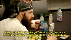Probably my favourite part from ep 5 of quest for the cup is Nick Bonino chirping Sidney Crosby