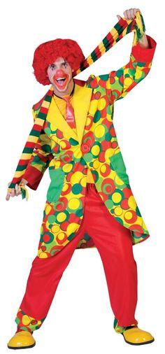 Bubbles Clown Adult Costume Sm