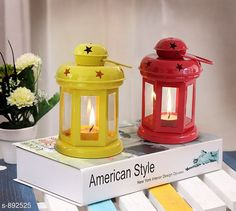 Lights Useful Iron & Glass Lantern  Material: Iron & Glass Size: (L X W X D) - 9 in X 8 in X 4 in Description: It Has 2 Piece Of Lantern Country of Origin: India Sizes Available: Free Size   Catalog Rating: ★4.2 (780)  Catalog Name: Attractive Home Utilities Vol 5 CatalogID_104362 C127-SC1620 Code: 672-892525-006