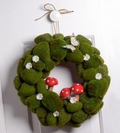 #NationalCraftMonth Project of the Day - Green as Spring DIY Wreath. Enter to win a Dow Gift Basket for STYROFOAM Brand Foam