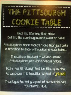 Personalized Cookie Table Poem by IdeasbyLA on Etsy