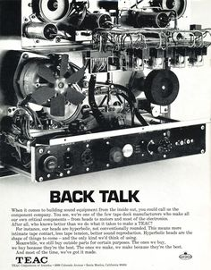 1971 ad for Teac reel tape recorders in Reel2ReelTexas.com's vintage recording collection