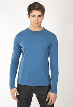 """Men's long sleeve crew. 30's 100% Cotton combed ring spun pre-shrunk reactive garment dyed and enzyme washed for softness. Use Promo Code """" JSFRIENDS """" during purchase and get 20% off. www.jsapparel.net All JS Apparel garments made in USA."""