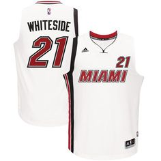 00399cd2af2 Men s Miami Heat Hassan Whiteside adidas White Home Swingman Jersey Nba  Store