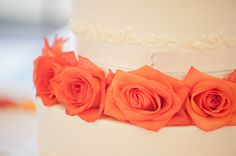 Orange & Cobalt California Wedding from Hearts & Horseshoes Photography  I love this color!