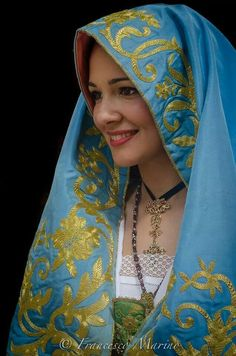 Arbreshe Woman from Calabria Italy ~ courtesy of Francesco Marone