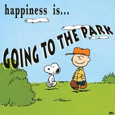 Happiness is going to the park
