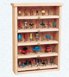 Router bit storage cabinet