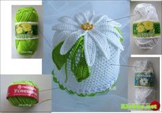 Daisy Baby Hat free crochet graph pattern