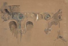 The Casa Loredan, Venice, 1850, John Ruskin, British, 1819–1900, Pen…