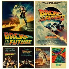 Sci-fi Back to The Future Film Propaganda Retro Kraft Poster Decorative DIY Wall Canvas Sticker Home Bar Art Posters Decor Diy Pared, In Theaters Now, Wall Art Crafts, Poster Store, Mileena, Bar Art, Craft Stickers, The Future Is Now, Cheap Paintings