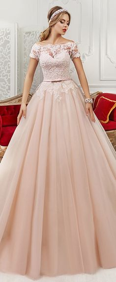 Amazing Tulle & Satin Off-the-shoulder Neckline A-Line Wedding Dresses With Beaded Lace Appliques