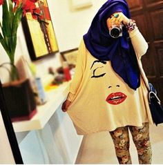 A loose jumper and Cool tights ; Islamic Fashion, Muslim Fashion, Modest Fashion, Hijab Fashion, Girl Fashion, Fashion Outfits, Cool Tights, Hijab Collection, Hijab Trends