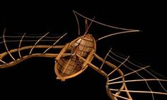 Flying machine with beating wings by Leonardo da Vinci