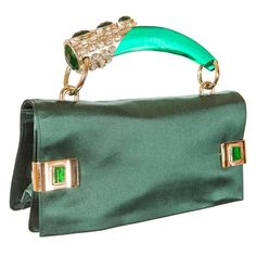 Prototype - Tom Ford for Yves Saint Laurent Spring 2004 Emerald Jeweled Bag | 1stdibs.com