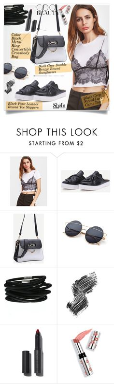 """""""SheIn Black&White Style"""" by lillili25 ❤ liked on Polyvore featuring Illamasqua, Ciaté and shein"""
