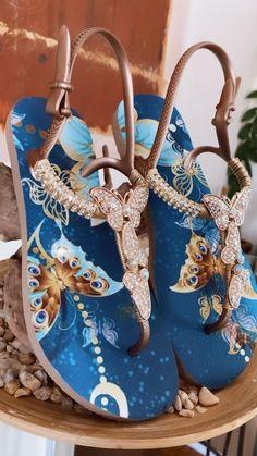 Bling Sandals, Bling Shoes, Fancy Shoes, Tie Shoes, Cute Sandals, Pretty Shoes, Crazy Shoes, Beautiful Shoes, Beaded Shoes