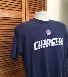 9edb86010 Vintage San Diego Chargers (Now Los Angeles) Navy Blue Grungy T shirt