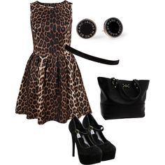 Animal Print Dress, created by dmk333 on Polyvore