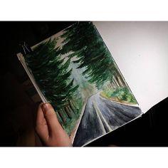 #forest#follow#drawing#painting#nature#picture#artist#art#sketchbook#sketch#moleskine#watercolor#world#albom#природа#лес#дорога#рисунокакварелью#художник#краски#акварель#рисунок#скетчбук#артбук#молескин#елка#скандинавия#skandinavian#1page1day  36/366  via ✨ @padgram ✨(http://dl.padgram.com)