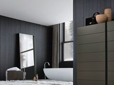 Rectangular framed mirror SARA by Poliform design Flaviano Capriotti