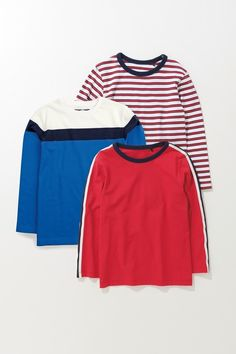 Next Stripe Retro T-Shirts Three Pack at EziBuy New Zealand. Buy women's, men's and kids fashion online. Customer Number, Kids Fashion, Womens Fashion, Online Clothing Stores, Nike Jacket, Bell Sleeve Top, June, Retro, T Shirt