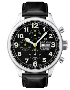 Ernst Benz Unisex Automatic Watch ChronoScope Black Dial Black Classic Leather Swiss Made Men's Watches, Cool Watches, Wrist Watches, Stylish Watches, Fashion Watches, Vintage Watches For Men, Luxury Watches For Men, Benz, Skeleton Watches