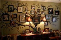 Such a good idea for hanging family pictures