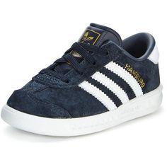 Adidas Originals Adidas Originals 'Hamburg El I ($45) ❤ liked on Polyvore featuring shoes, fleece-lined shoes, adidas originals shoes, leather tennis shoes, tennis shoes and adidas originals