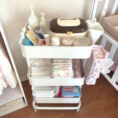 【IKEA】赤ちゃんのお世話に便利なワゴン《RASKOG》を買ってみた!【産後レポ追加】 - かぞくのーと