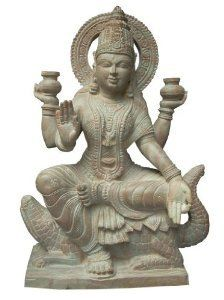 Goddess Ganga Hand Carved Statue Hindu Religious Pink Stone Sculpture 12 Inch Mogul Interior http://www.amazon.com/dp/B00K8OUF6C/ref=cm_sw_r_pi_dp_MCx0tb0R1V8XPT6C