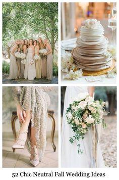 52 Chic Neutral Fall Wedding Ideas | HappyWedd.com #PinoftheDay #chic #neutral #fall #wedding #ideas