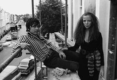 David Bailey with Penelope Tree in London, circa 1967.
