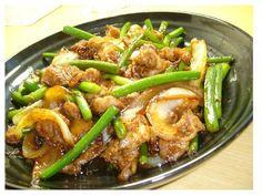 Pork & Garlic Shoots Twice-Cooked Pork-Style Fry