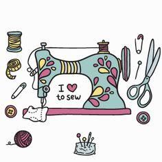 maquina de coser dibujo - Buscar con Google
