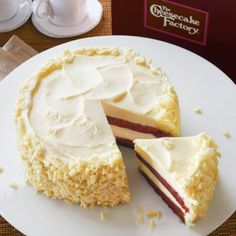 We've delivered a lot of cheesecakes, so it's always a fun surprise when we have cheesecakes delivered to us. Take The Cheesecake Factory®'s Ultimate Red Velvet Cake Cheesecake™, for instance. Alternating layers of cheesecake and moist red velvet cake make for not only a unique, delicious cake, but a visually stunning one as well. The cream cheese frosting just makes it more delicious.