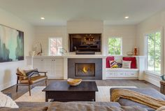 Image result for closed storage next to fireplace