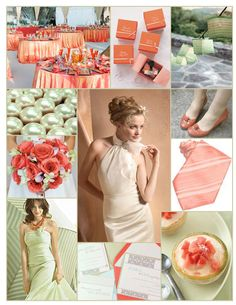 Mint green and coral wedding inspiration