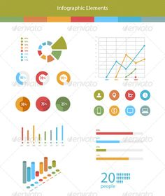 #Infographic #Elements - Infographics Download here: https://graphicriver.net/item/infographic-elements/5638212?ref=alena994