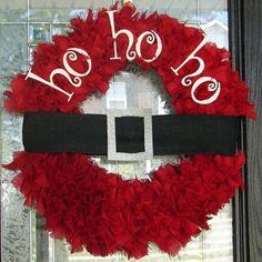 Christmas Santa wreath! Adorable and DIY for Christmas