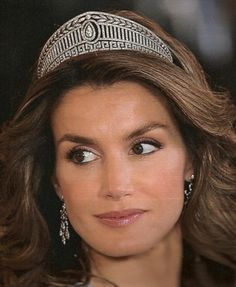 Princess Letizia of Asturias wearing the Prussian Tiara ~ Queen Sofia loaned it to her on her wedding day to Crown Prince Felipe